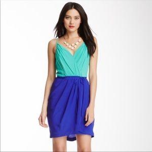 Yumi Kim Jayne Tulip Dress Silk Blue Size Medium
